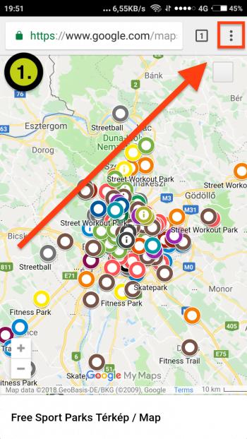 Free Sport Parks térkép Android App-telepítés 1. lépés