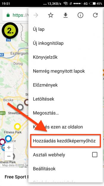 Free Sport Parks térkép Android App-telepítés 2. lépés