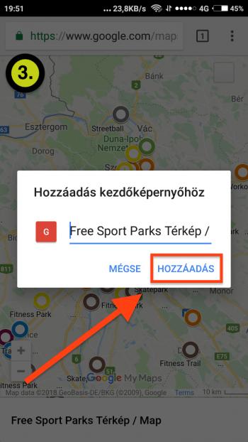 Free Sport Parks térkép Android App-telepítés 3. lépés