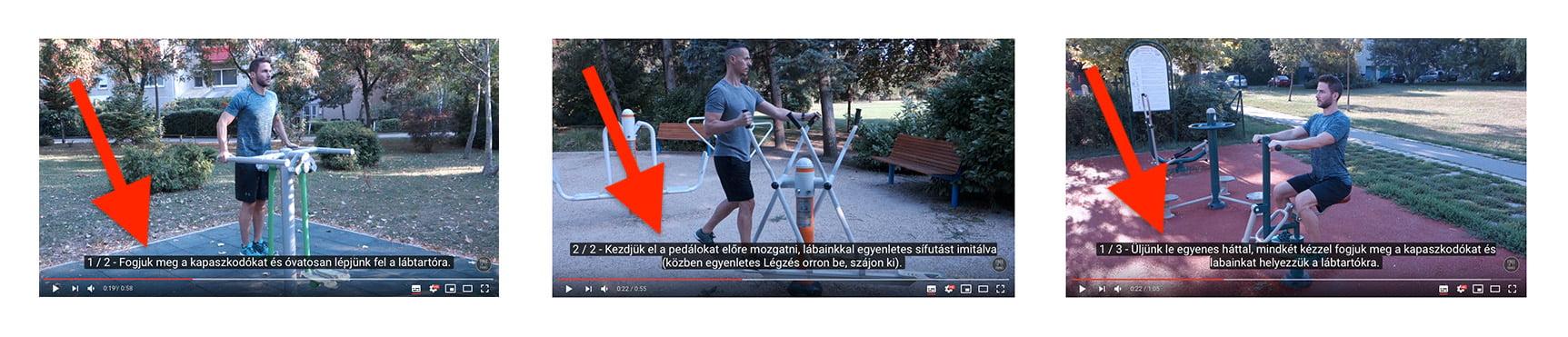 Eddz Okosan Fitneszparkban videok felirattal
