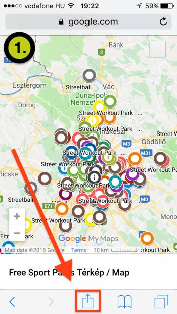 Free Sport Parks térkép IOS App-telepítés 1. lépés