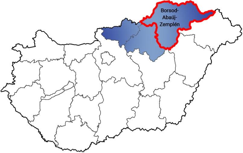 Borsod-Abaúj-Zemplén megye - Közösségi Sportváros - Free Sport Parks térkép