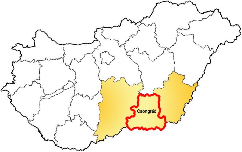 Csongrád megye - Közösségi Sportváros - Free Sport Parks térkép
