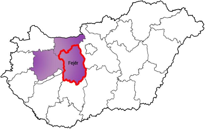 Fejér megye - Közösségi Sportváros - Free Sport Parks térkép
