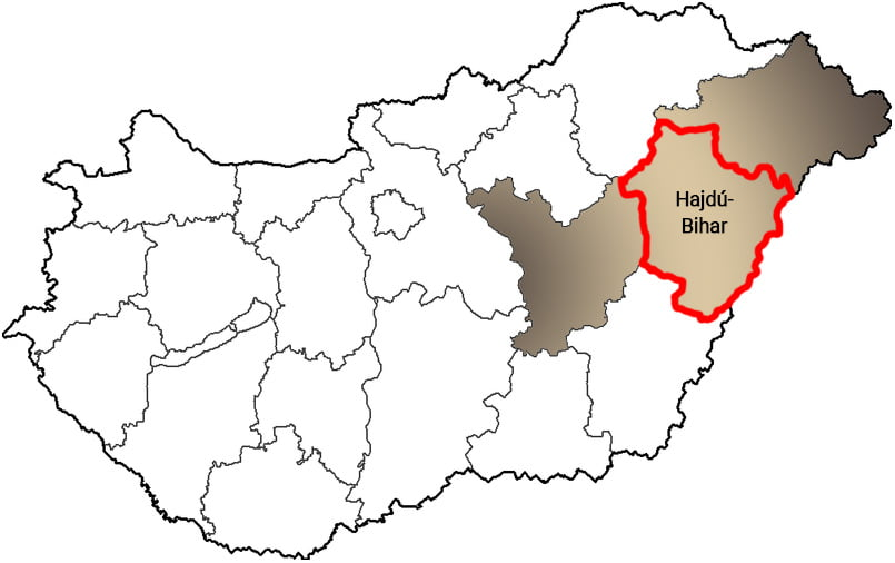 Hajdú-Bihar megye - Közösségi Sportváros - Free Sport Parks térkép