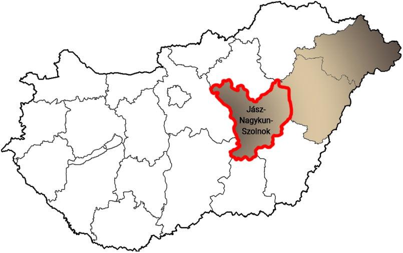 Jász-Nagykun-Szolnok megye - Közösségi Sportváros - Free Sport Parks térkép