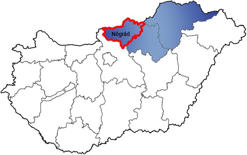 Nógrád megye - Közösségi Sportváros - Free Sport Parks térkép
