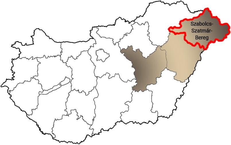 Szabolcs-Szatmár-Bereg megye - Közösségi Sportváros - Free Sport Parks térkép