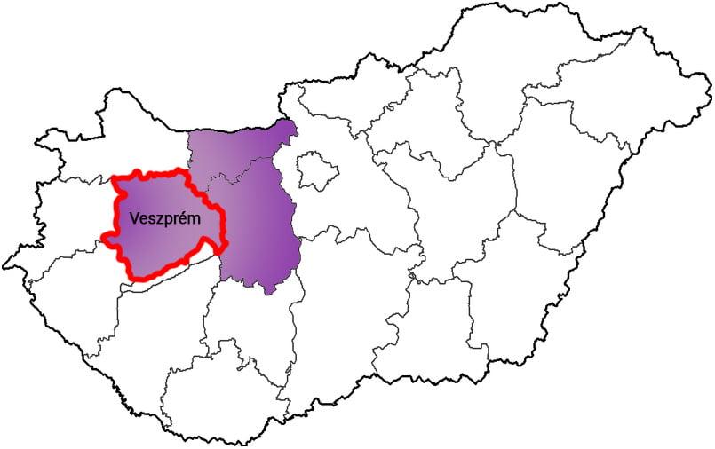 Veszprém megye - Közösségi Sportváros - Free Sport Parks térkép