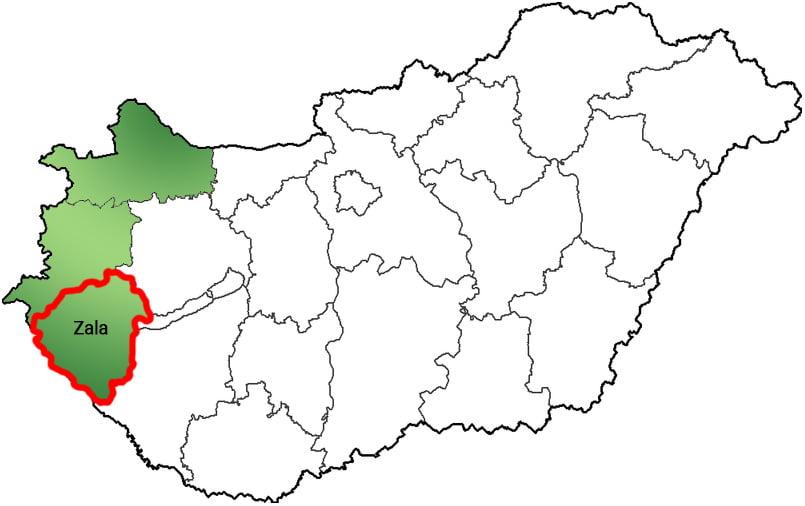 Zala megye - Közösségi Sportváros - Free Sport Parks térkép