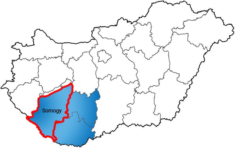 Somogy County - Social Sport City - Free Sport Parks Map