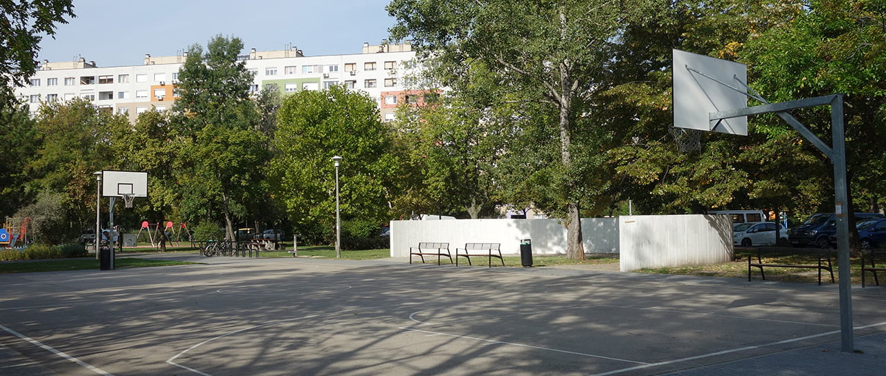 Basketball court in Budapest, Bikas park - Free Sport Parks map
