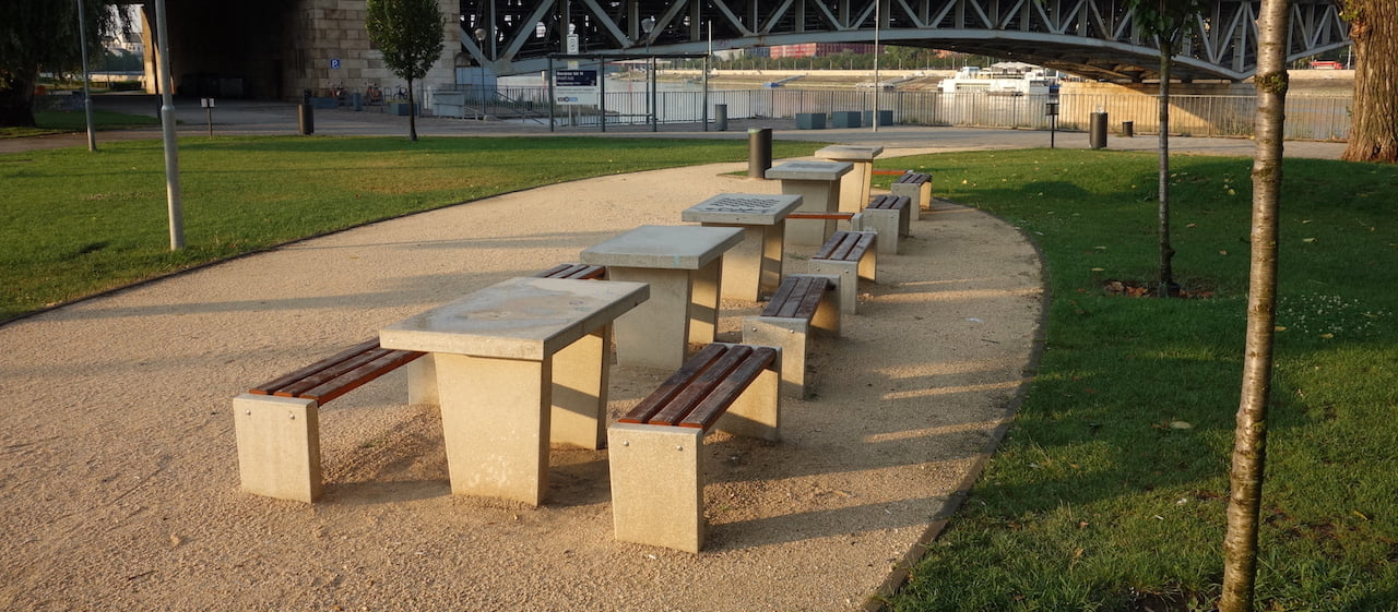 Chess table - Budapest, Nehru part - Free Sport Parks map