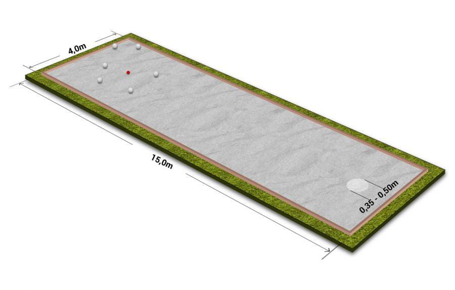 Petanque pálya méretei - Free Sport Parks térkép