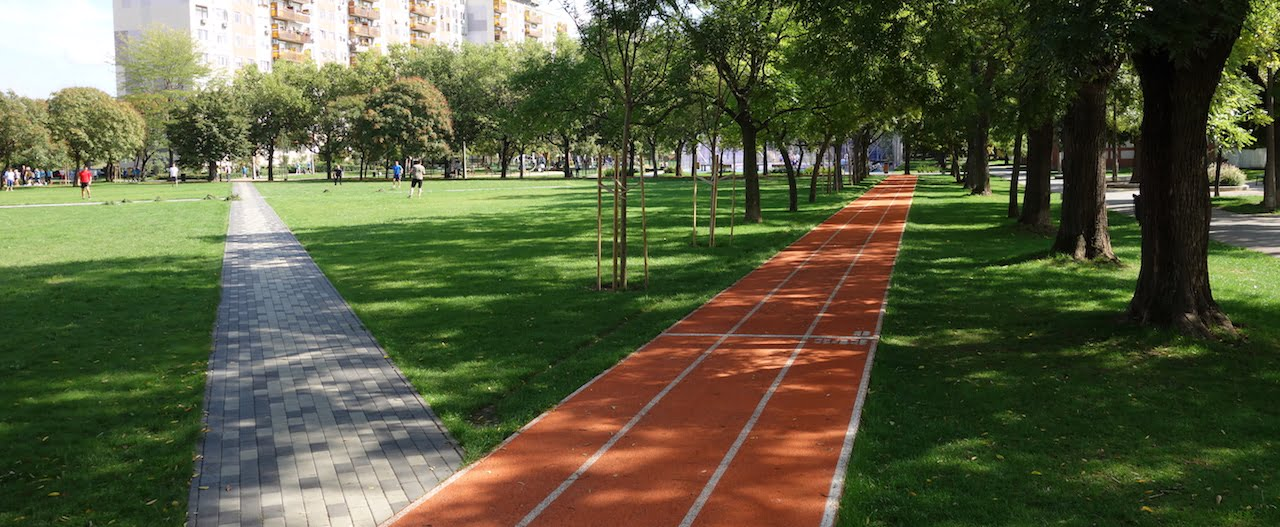 Running track - Budapest (4th district), Semsey Aladár park - Free Sport Parks map