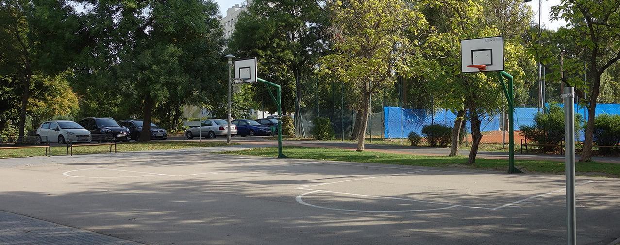 Streetball pálya - Budapest, Bikás park - Free Sport Parks térkép