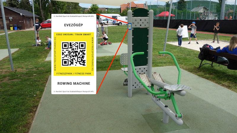QR-kódos Eddz Okosan matrica - Hidegkúti Családi Sportnap - Free Sport Parks térkép