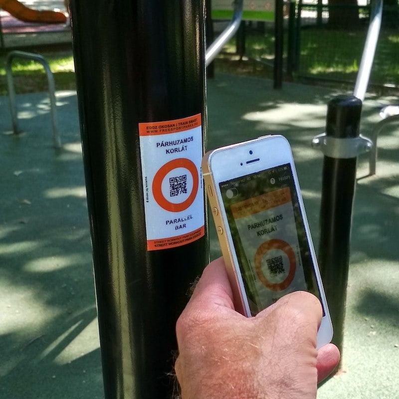Free Sport Parks - Train Smart QR code scanning