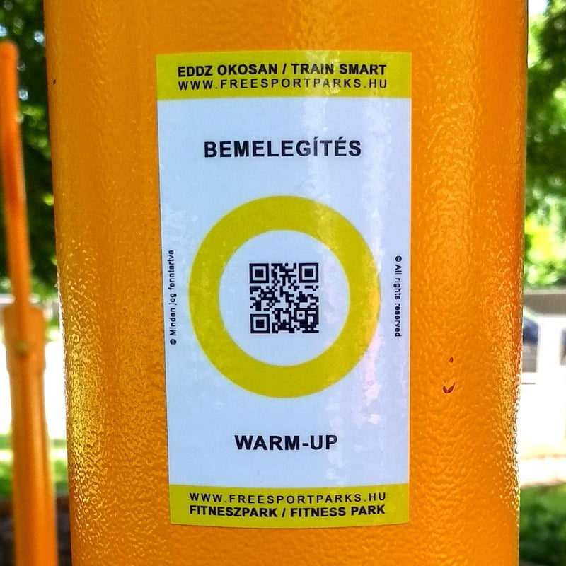 Free Sport Parks - Train Smart QR code sticker in Fitness Park
