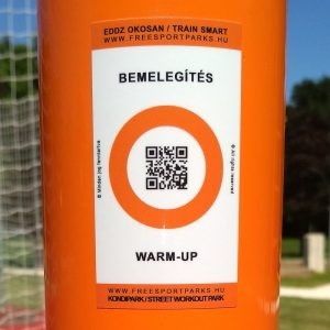 Free Sport Parks – Train Smart QR code sticker in Street Workout Park