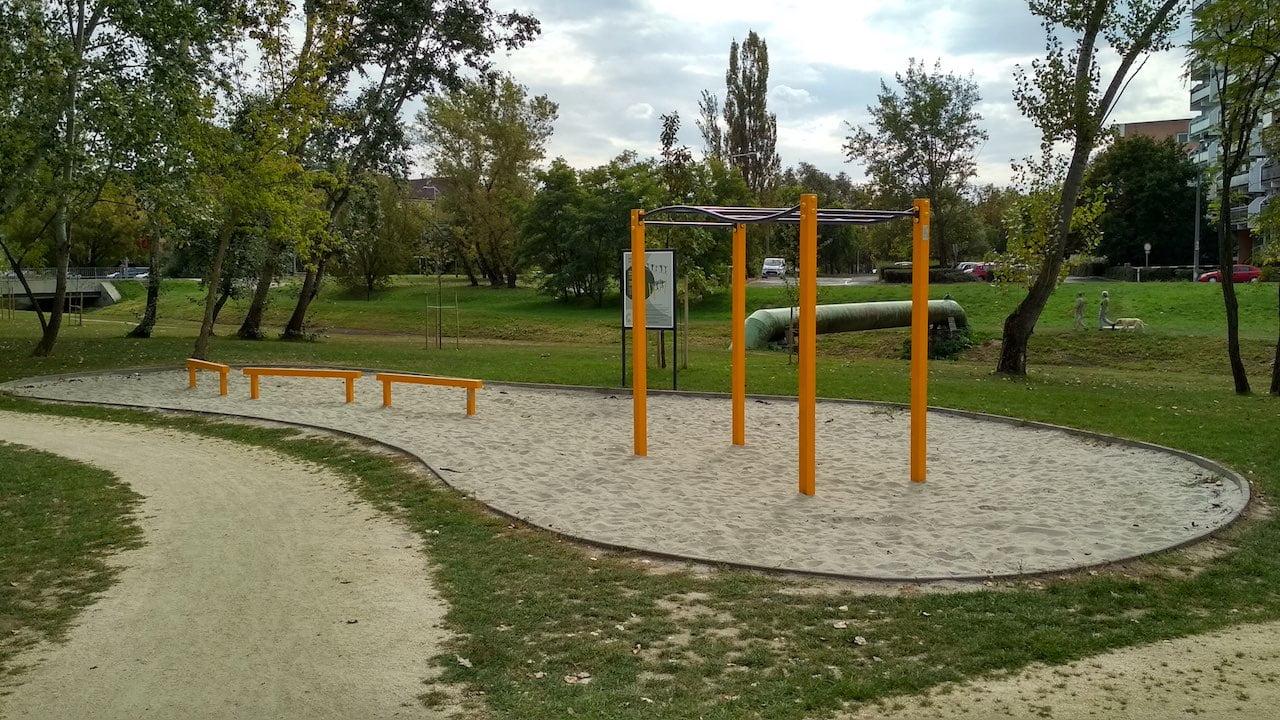 Szilas Aktív Park Újpesten - Street Workout Park hat állomással