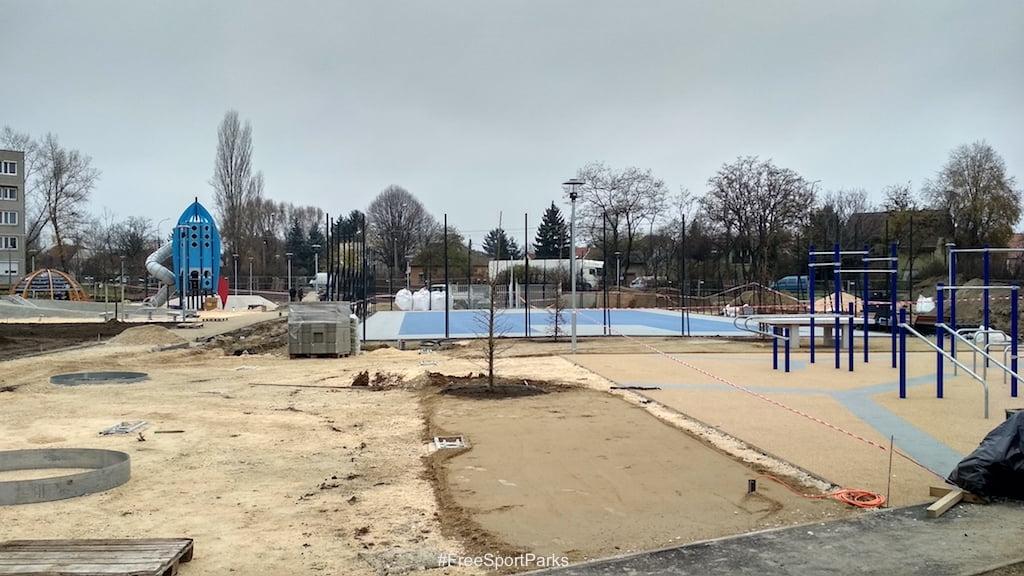 Csepel Tejút park - Családi Szabadidőpark - kosárlabda és focipálya - Free Sport Parks térkép - Budapest 2019, Európa Sport fővárosa
