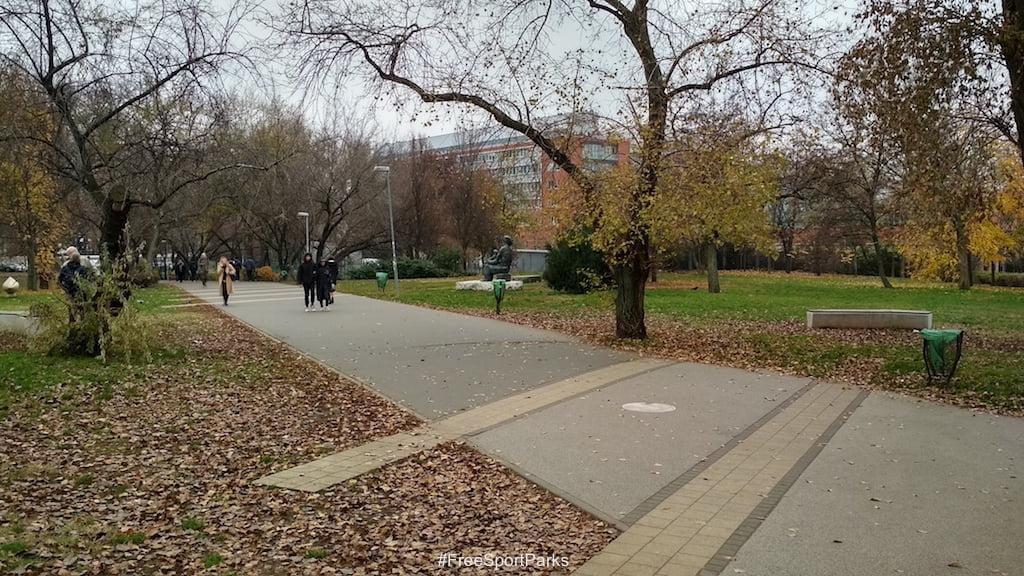Egyetemisták parkja - sétány - Családi Szabadidőpark - Free Sport Parks térkép - Budapest 2019, Európa Sport fővárosa