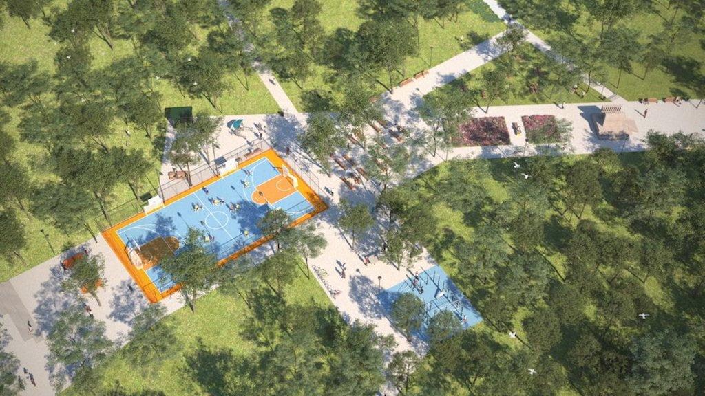 Egyetemisták parkja - látványterv - Családi Szabadidőpark - Free Sport Parks térkép - Budapest 2019, Európa Sport fővárosa