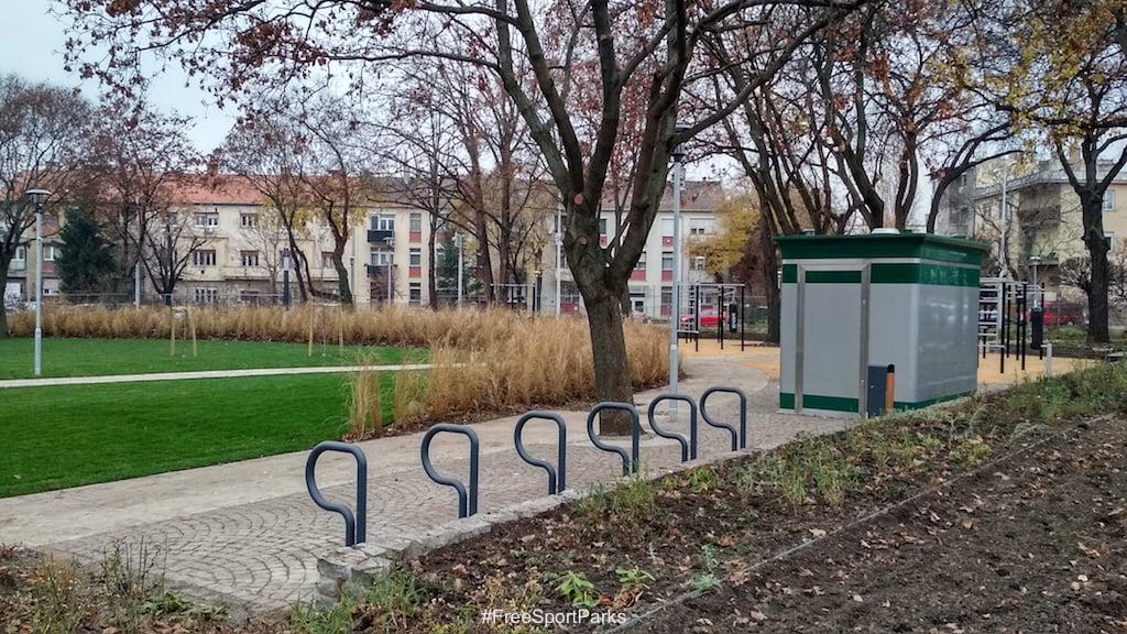 Függetlenségi park - Családi Szabadidőpark - kerékpártároló és illemhely - Free Sport Parks térkép - Budapest 2019, Európa Sport fővárosa