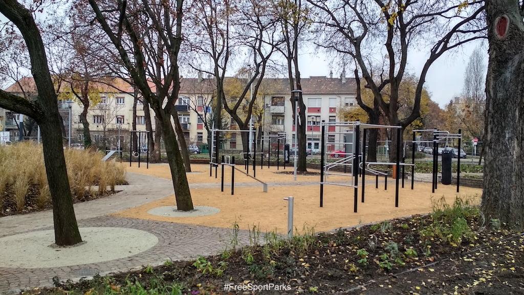Függetlenségi park - Családi Szabadidőpark - Street Workout Park - Free Sport Parks térkép - Budapest 2019, Európa Sport fővárosa