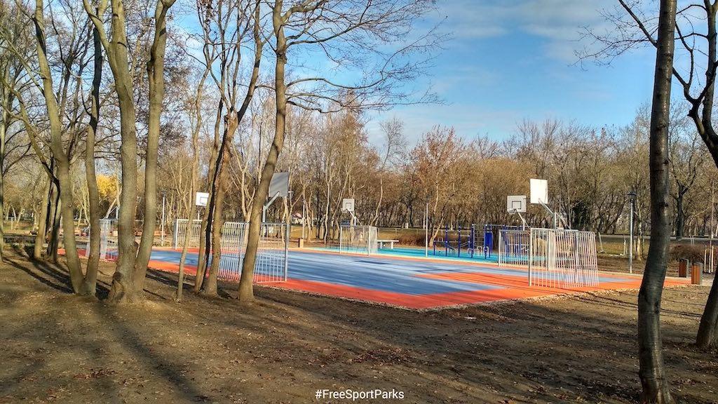 Hajógyári-sziget - Családi Szabadidőpark - Foci és kosárlabda pálya - Free Sport Parks térkép - Budapest 2019, Európa Sport fővárosa