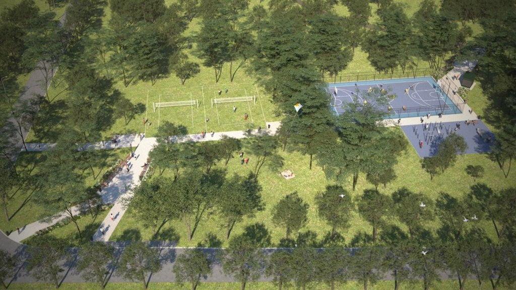 Hajógyári-sziget - Családi Szabadidőpark - látványterv - Free Sport Parks térkép - Budapest 2019, Európa Sport fővárosa