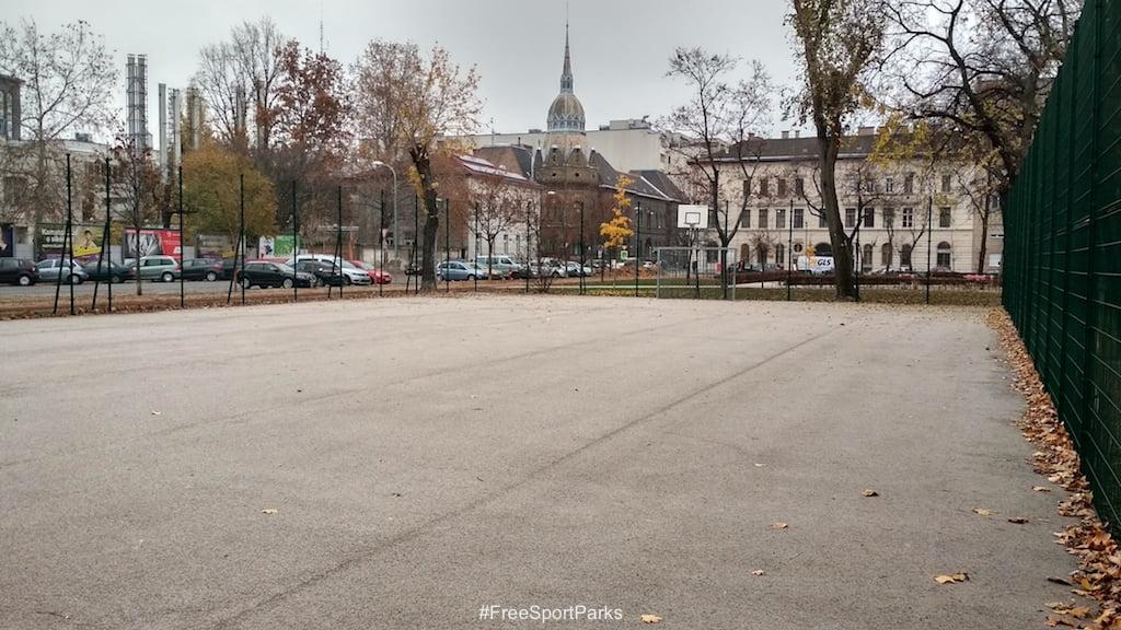 II. János Pál pápa tér - Családi Szabadidőpark - foci és kosárlabda pálya - Free Sport Parks térkép - Budapest 2019, Európa Sport fővárosa