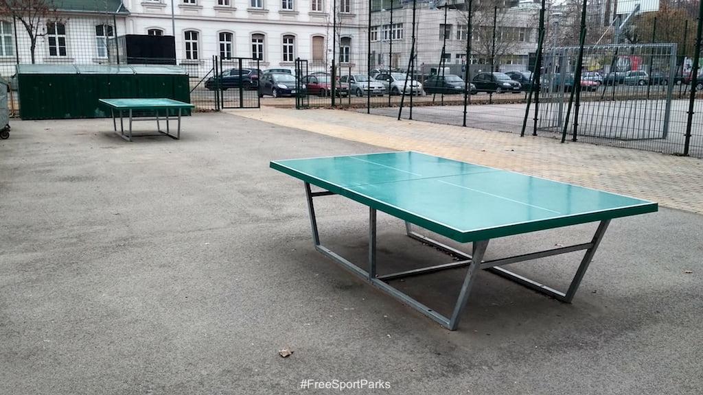 II. János Pál pápa tér - Családi Szabadidőpark - pingpong asztalok - Free Sport Parks térkép - Budapest 2019, Európa Sport fővárosa