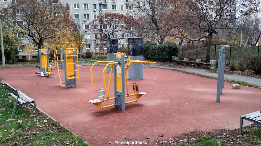 Kaptató sétány - Családi Szabadidőpark - fitneszpark - Free Sport Parks térkép - Budapest 2019, Európa Sport fővárosa
