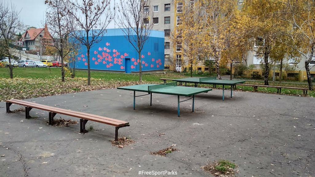 Kaptató sétány - Családi Szabadidőpark - ping pong - Free Sport Parks térkép - Budapest 2019, Európa Sport fővárosa