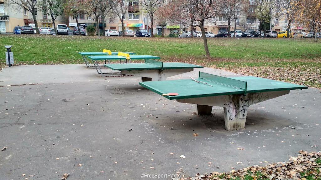 Kaptató sétány - Családi Szabadidőpark - pingpong asztalok - Free Sport Parks térkép - Budapest 2019, Európa Sport fővárosa