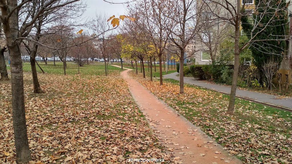 Kaptató sétány - Családi Szabadidőpark - rekortán futópálya - Free Sport Parks térkép - Budapest 2019, Európa Sport fővárosa