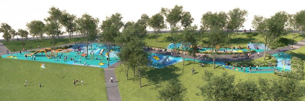 Tabáni Családi Szabadidőpark - látványterv - Free Sport Parks térkép - Budapest 2019, Európa Sport fővárosa