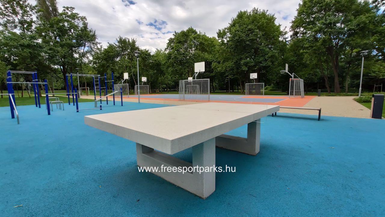 beton ping-pong asztal gumitalajon