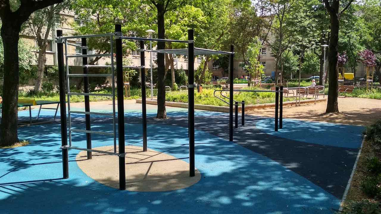 Angyalföld Esztergomi út 47. kondipark (Street Workout Park) - Free Sport Parks térkép