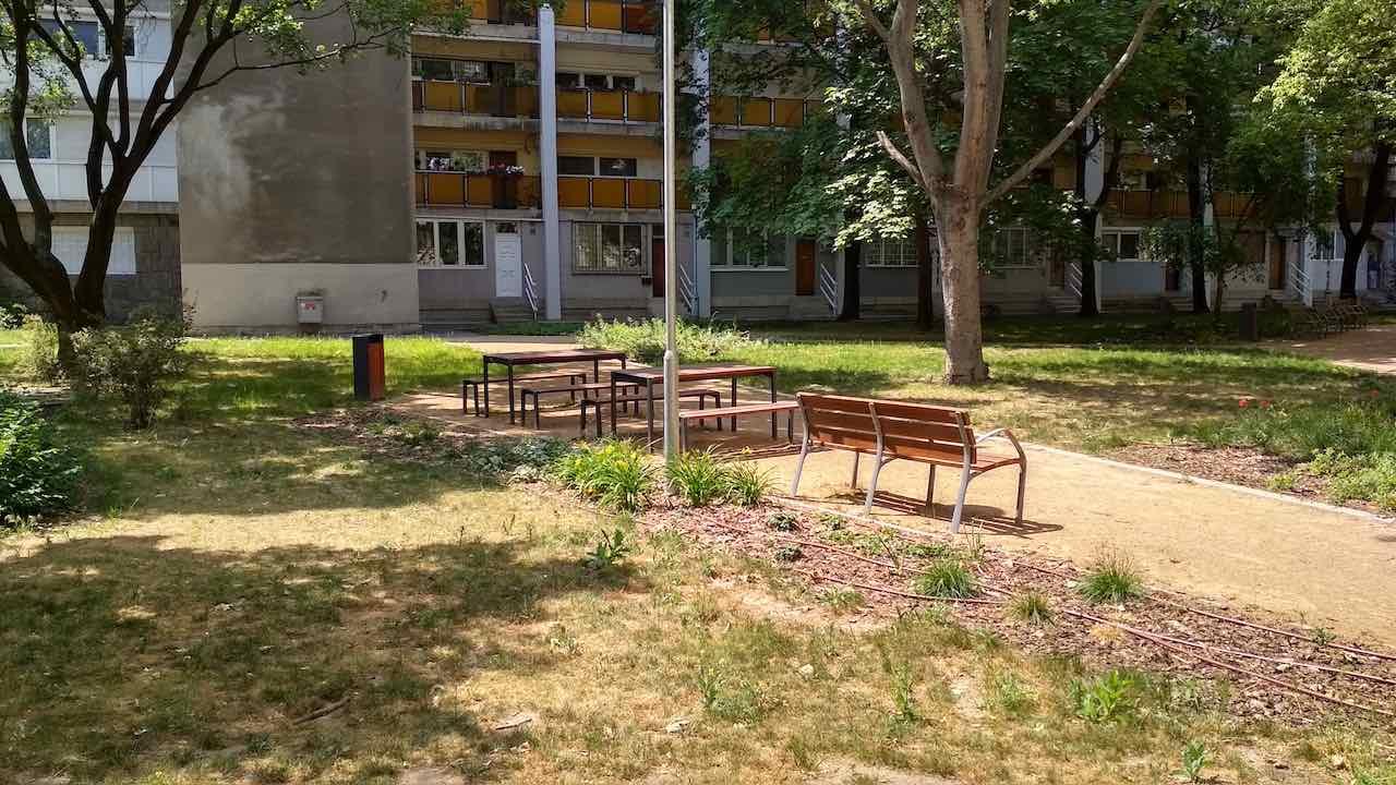 Angyalföld Esztergomi út 49. sakkasztalok - Free Sport Parks térkép