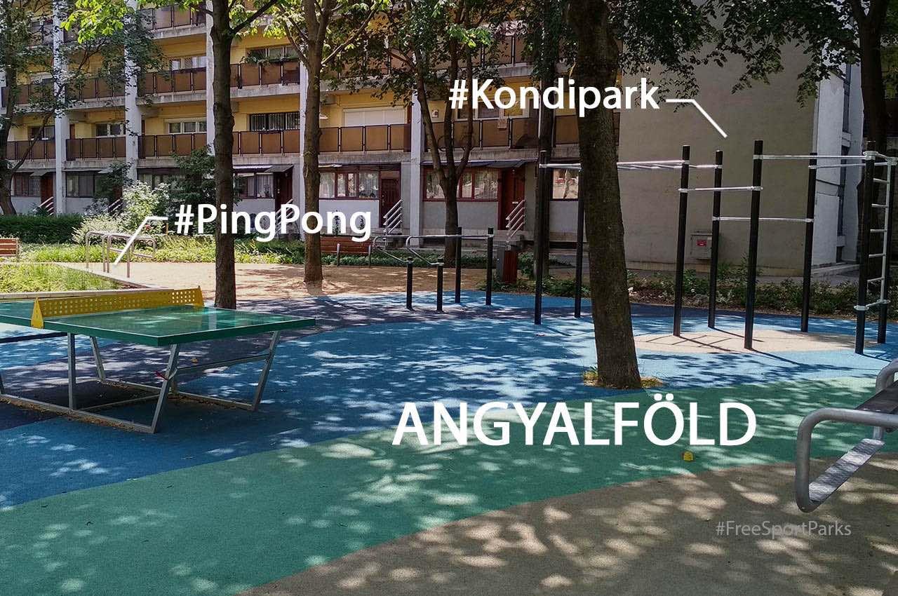 Új kondipark és pinpogasztalok Újpesten - Free Sport Parks térkép