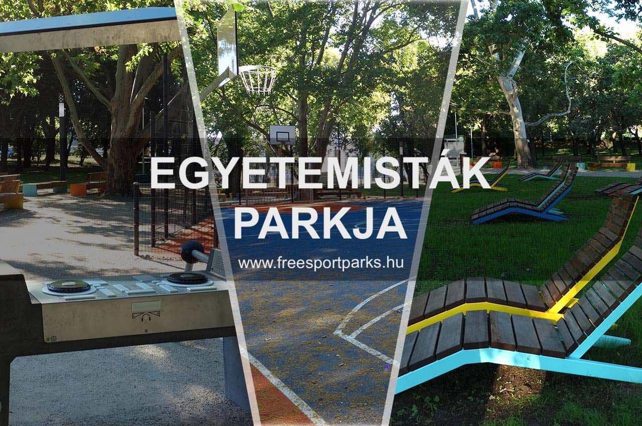 Egyetemisták parkja Újbudán sportpark - Free Sport Parks térkép