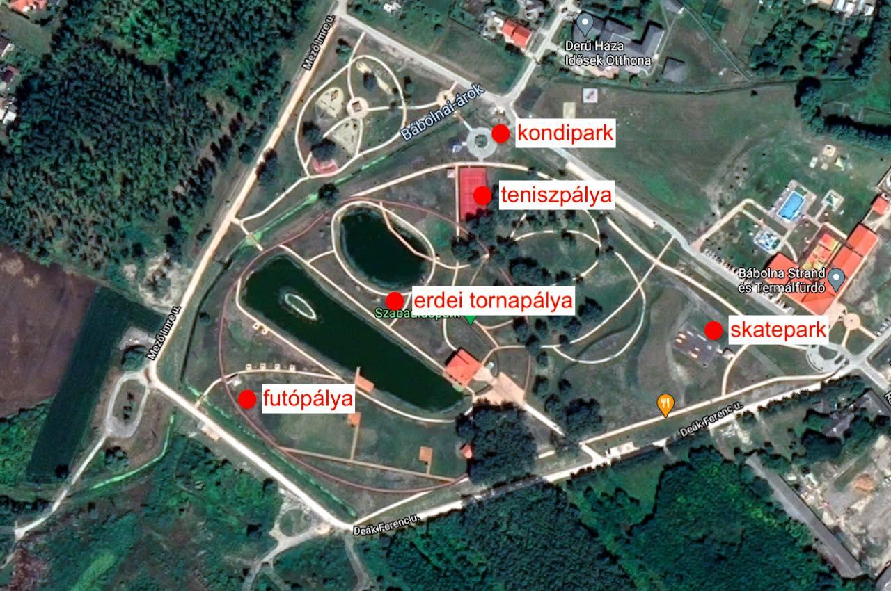 Bábolna Szabadidőpark sporthelyszínei