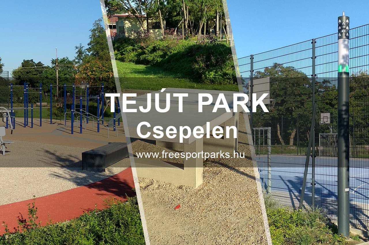 Tejút park Csepelen - Free Sport Parks térkép