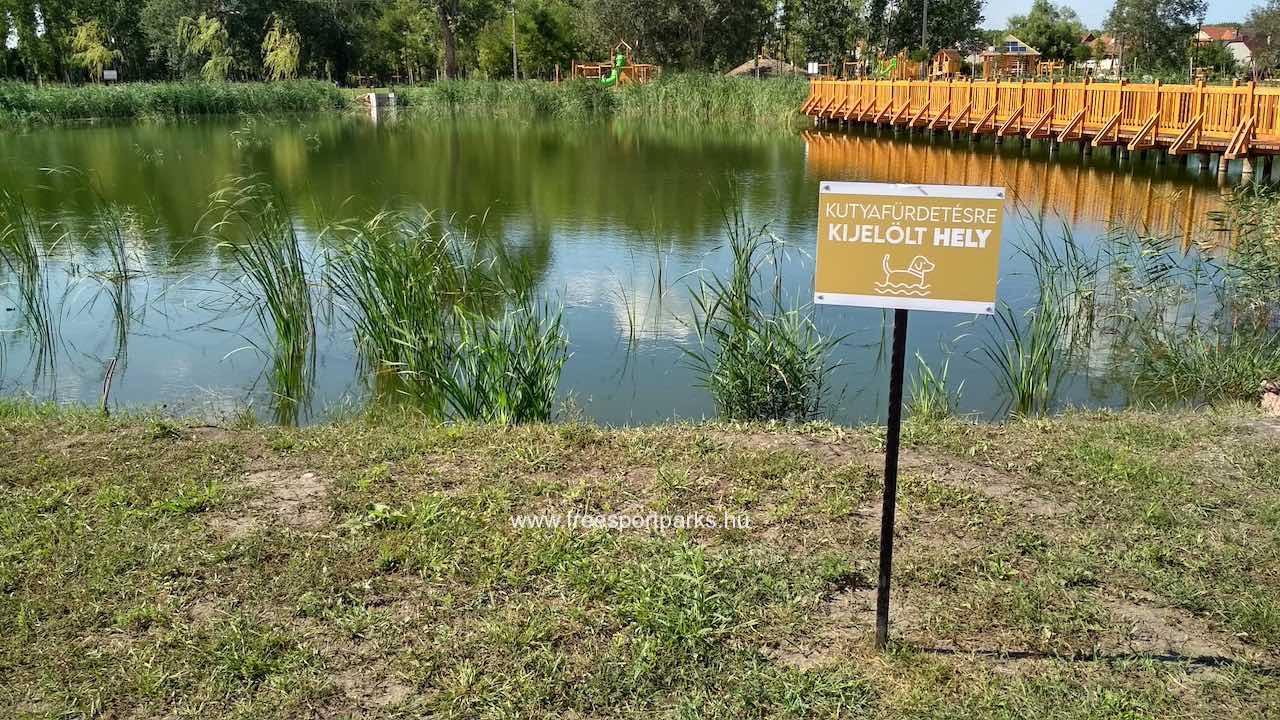 kutyabarát tó a Bábolna Szabadidőpark területén
