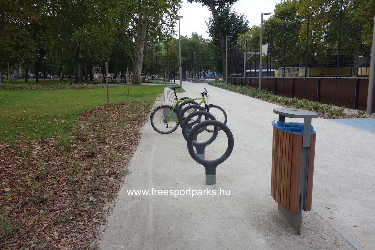 gumírozott kerékpártároló