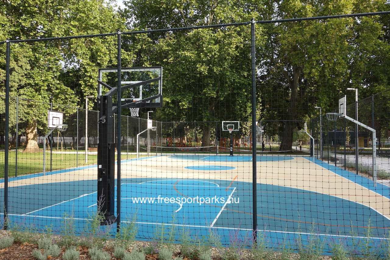 kosárlabda és streetball pálya a Városligeti Sportcentrumban