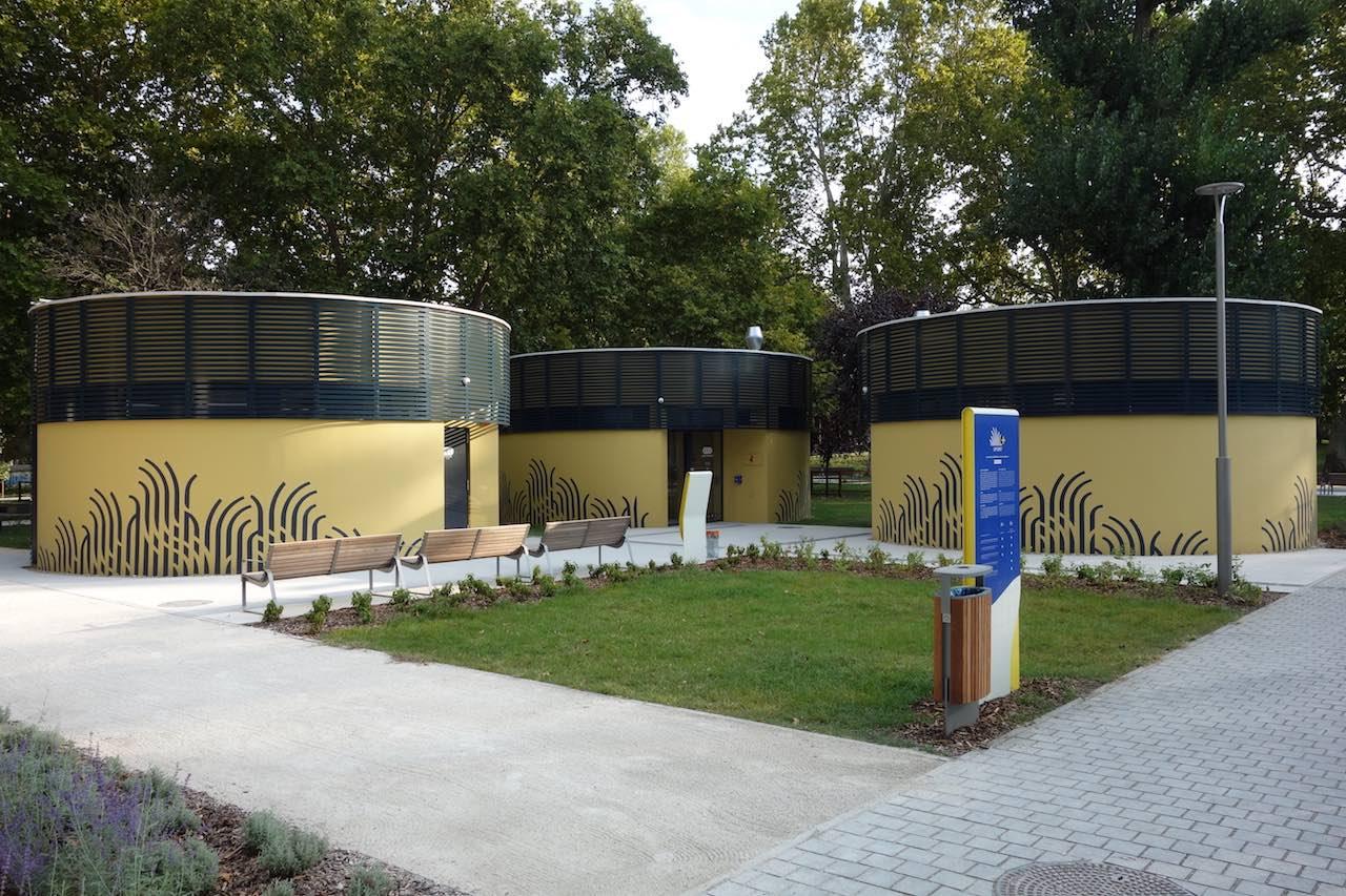 toalett és öltöző a Városligeti Sportcentrum területén